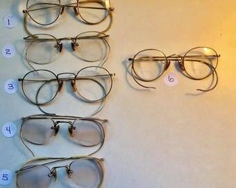 Vintage 12K Gold Filled Glasses Spectacles - Take your Pick