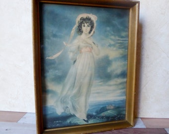 Antique Framed Print of Pinkie