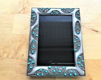Scrying Mirror with Blue Beads