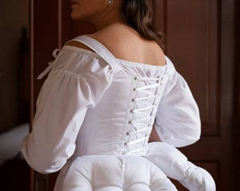 18th Century False Rumps - Ready to Ship Historical Georgian Bum Padding Split Skirt Support 1780's 1790's Reenactment Colonial Antoinette