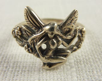 Vintage Sterling Fairy Ring Size 8