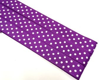 Pattern Magnet - Chart Keeper Magnetic Bookmark - Knitting Crochet Supplies Tools - Set of 3 - Purple Polka Dots