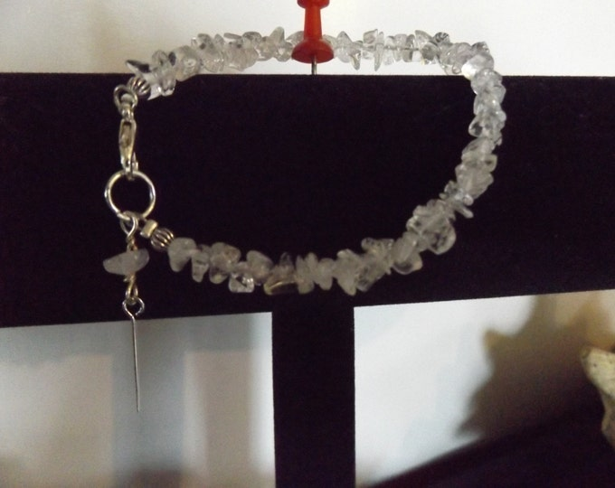 Clear Quartz Crystal Bracelet, Crystal Bracelet, Quartz Crystal Jewelry, Chakra Stone, Spiritual Jewelry, Mystical Jewelry