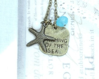Starfish Pendant Necklace Dreaming Of The Sea Necklace Starfish Gift Beach Necklace Starfish Jewelry