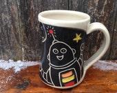 Robot Mug / kids mug / mug for children / small mug