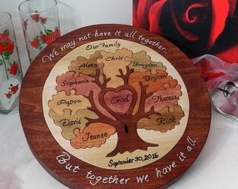 Unity Puzzle Wooden Anniversary Gift 25th Anniversary Gift  Custom Designed One Of A Kind Personalized Family Heirloom Wooden Tray Puzzle
