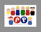 Fisher Price Pixel People Character Cross Stitch PDF PATTERN ONLY