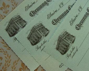 Antique Ephemera 3 Stunning 1940s Unused Checks