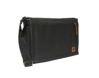 Ultimate Stash laptop messenger bag - black