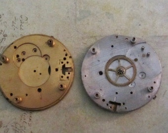 Vintage pocket Watch movement parts - Pocket watch plates Steampunk - Scrapbooking E18