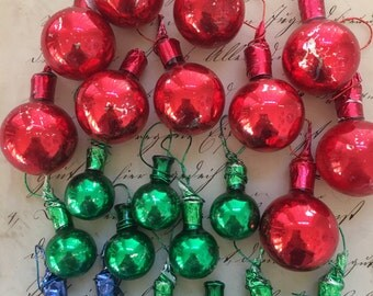 Vintage Mini Glass Ball Ornaments