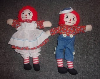 "11"" Raggedy Ann and Andy"