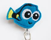 Finding Dory's Baby Dory Feltie ID Badge Reel - Retractable ID Badge Holder - Zipperedheart