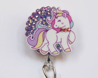 The Sweetest Unicorn ID Badge Reel - Retractable ID Badge Holder - Zipperedheart
