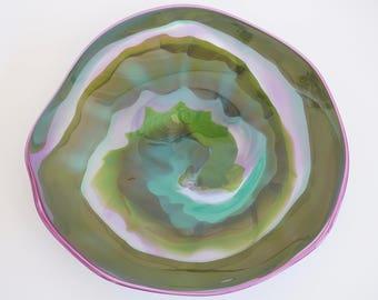 Wall Art Glass Blown Platter 709