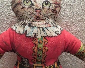 Vintage Stuffed Pirate Cat / Cat Lover!