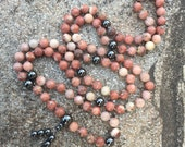 Lepidolite 108 Bead Mala Necklace