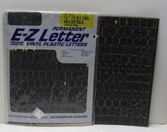 ABC Letters 337 Self Adhesive Black Vinyl Vintage Signage E-Z Letter Scrap Pack alphabet Number Stickers Peel Stick Office Diecut Letters