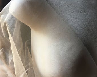 SAMPLE Nude STRETCH ILLUSION for Bridal, Skating, Ballroom or Lyrical Costumes, Lingerie