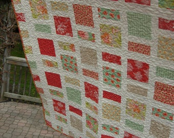 Stepping Stones Lap Quilt, Somerset By Fig Tree Quilts, Lap Quilt, Quilted Throw