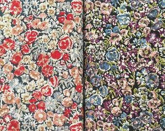 liberty of london- chive  - red or purple - fat quarter