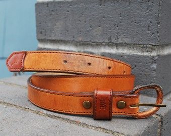 Vintage Women's Brown Leather Frye Belt