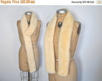 25% OFF BLONDE Mink Fur Collar Scarf / wedding bridal