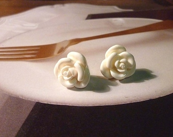 SALE - Mini Rose Earrings