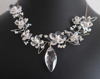 Silver Necklace Flower Princess - Sterling Silver