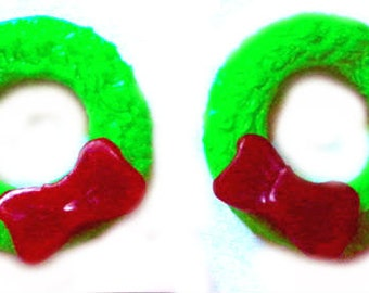 Christmas Soap - Wreath - Set of 2 - Wreaths - Party Favors - Bath Decor - Stocking Stuffers