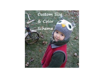 Owl Hat, Little Hoot, Made to Order, Custom