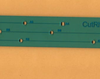 CutRite Nine Patch Ruler, divides into thirds for 9 patch blocks, Tool for Quilters