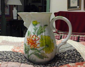 Vintage Seymour Mann EDA Chrysanthemum Water/Milk Pitcher