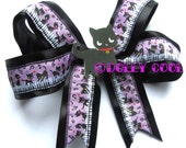 Black Cat hair bow by Dolly Cool Musical Kawaii