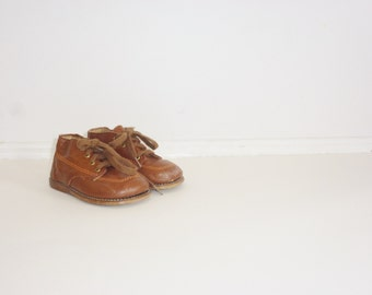 Vintage Brown Toddler Shoes