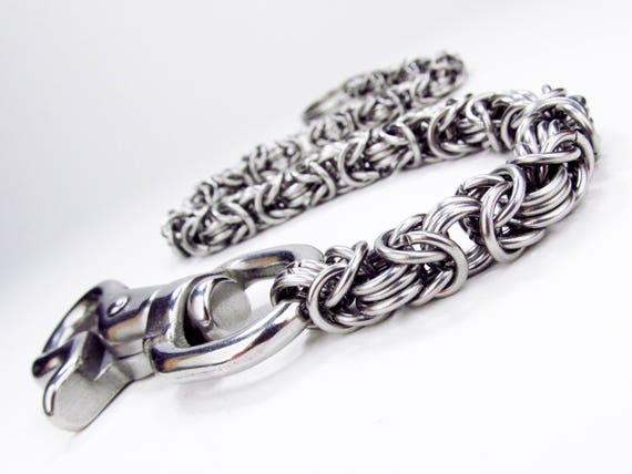 Chainmaille Wallet Chain - Thick to Thin Byzantine