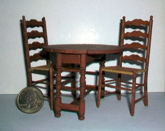 Table and 2 Chairs  1:12 scale