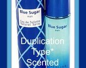 BLUE SUGAR Scented Soy Wax Melts Tarts - Sensual Men's Masculine Cologne Type* Duplication - Patchouli - Musk - Woodsy - Handmade In USA