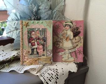 Victorian Christmas Cards (set of 2) - Handmade Christmas Cards