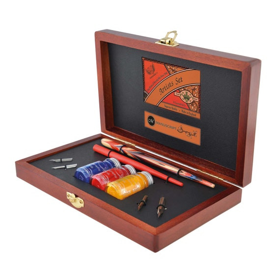 Artists Pen And Ink Drawing Calligraphy Set From
