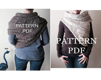 New Item - Pattern BUNDLE - TWO Cowl Patterns - District 12 and Panem Cowl - Pattern PDFs - DIY Knitting Patterns