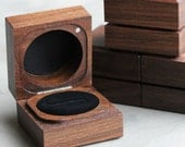 Handmade & Sustainable Walnut Ring Boxes - Sustainable, Eco-friendly, Holds one or two rings