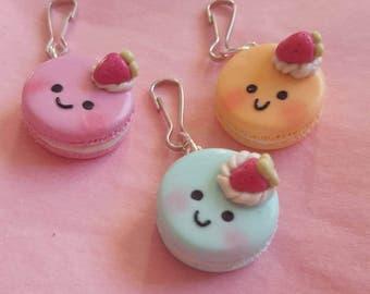 OOPS SALE: Happy Kawaii Macaron Polymer Clay Charm