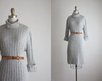 silk & angora sweater dress