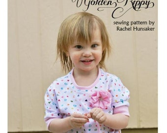 Dahlia Girls Top PDF Sewing Pattern- sizes 12 months to 11/12 years