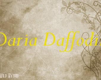 Daria Daffodil Perfume Oil - 5ml Daffodil, pink pepper, nectar, caramel and ambergris accord