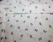 Vintage Cherry Cherries Cotton Sheeting Fabric from Spring Mills Inc Tiny Cherry sets