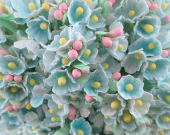 Forget Me Not Pale Blue Flower Bouquet