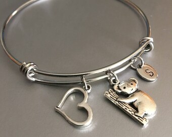 Koala bear bracelet,Koala bear charm,Monogram,gift for her, Bracelet,Friendship bracelet ,Bear bracelet, Personalized,Charm bracelet,Gift