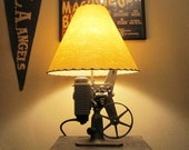 Vintage Film Projector Lamp made from Revere Model 8B58mm Film Projector. Circa 1940's.